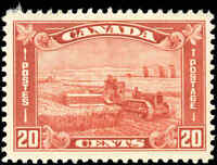 Mint Canada 1930 F-VF Scott #175 20c KGV Arch Leaf Stamp Never Hinged
