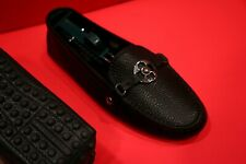 $759.00 !! LOUIS VUITTON  LUXURY WOMEN  BLACK  LEATHER SHOES LOAFERS  SIZE 38.5