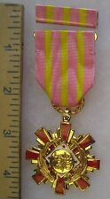 Post Ww2 Vintage Taiwan Roc Republic of China Exemplary Medal 1st Grade Class B