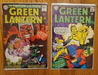 Green Lantern 45 and 48, 3rd appearance of Zatanna! Silver Age!