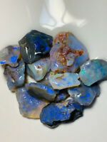 Australian Rough Opal L/R Select parcel of cutters nice fires 135ct WA596 Video