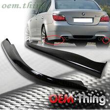 Carbon Fiber For BMW E60 5-Series 4D 4D M5 Rear Lip Splitter Body Kit 2010 New