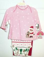 Carters Child of Mine REINDEER/SANTA 3 pc Pant Set Size...