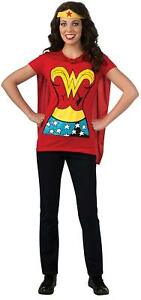 DC Comics Wonder Woman T-Shirt With Cape And Headband, Red,, Red, Size X-Large