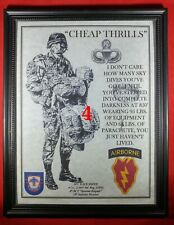 """Mc-Nice: Army Airborne """"Cheap Thrills"""" 4th Bct 25th Id Framed Personalized"""