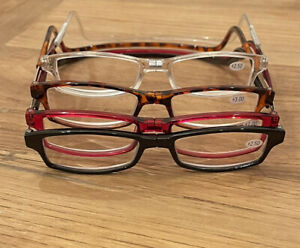 TWO PAIRS of MAGNIFYING READING GLASSES - Hang Around Your Neck