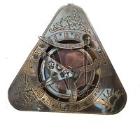 Vintage Maritime West London Antique Brass Sundial Compass Nautical Decor Gift.