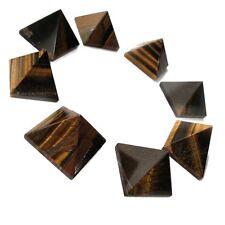 "Crystal Gemstone Tiger Eye Stone Pyramid (25mm - 1""), Reiki, and Feng Shui Decor"