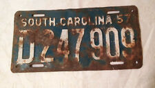 Vintage 1957 License Plate Tag D247909 - South Carolina