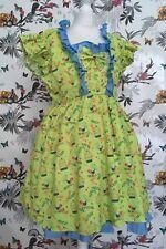 *OOAK* Brand New Handmade Birds Lolita Midi Dress Size 18 20 Sissy Maid Kawaii