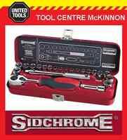 "SIDCHROME SCMT12110 23pce METRIC & A/F 1/4"" SOCKET SET"
