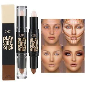 Doublex Head Face Highlighter Stick Makeup Bronzer Shimmer Play Concealer