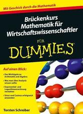Brückenkurs Mathematik für Wirtschaftswissenschaftler für Dummies Buch