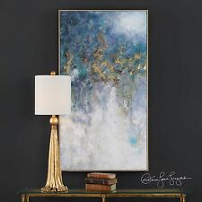 "HUGE 53"" RICH HAND PAINTED CANVAS ABSTRACT PAINTING MODERN DESIGNER WALL ART"