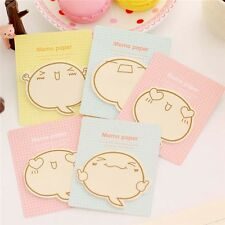 4X Cute Big Face Sticky Notes Memo Pad Paper Sticker Post It Supply Stationery