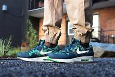 Nike Air Max 1 GPX Blue Floral Mens Lifestyle shoe size 10.5 684174-400