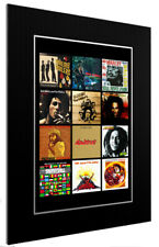 More details for mounted / framed print bob marley discography - 3 sizes poster gift art