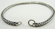 Authentic Trollbeads Sterling Silver Bracelet Without Lock 6.7""