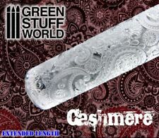 Rolling Pin - CASHMERE Texture - polymer clay paisley cashmir cashemire
