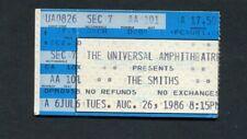 1986 The Smiths Unused Concert Ticket Morrissey The Queen Is Dead Universal City