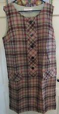 Pendleton Woolen Mills Vintage Pure Virgin Wool Tartan Dress 1960's Size 16