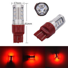 Pair 7440 T20 W21/5W Red Turn Signal Side Blinker Lamp LED Bulbs 600LM Taillight