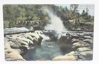 Vintage 1908 Postcard Crater Oblong Geyser Yellowstone National Park
