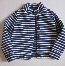 *Lands End Girls Fleece Cotton Blend Stripe Jacket Size  M