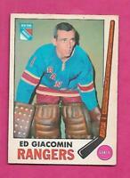 1969-70 OPC # 33 RANGERS ED GIACOMIN VG CARD (INV# D7619)