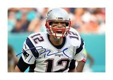 More details for tom brady nfl a4 signed mounted photograph picture poster choice of frame