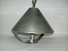 Ceiling Mounted Light Fixture - Punched Tin Homestead Shade Light - Country Farm