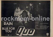 Status Quo Rain Empire, Liverpool '45 Tour advert 1976