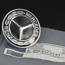 NEW Mercedes-Benz Hood Black Flat Laurel Wreath Badge Emblem #0008171701 57mm