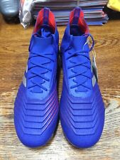 adidas predator 19.1 SG  Blue Silver Red Size  7 Only SOFT GROUND CLEATS