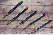 Parker Ballpoint Pen Refills in Black, Blue, Green, Red, G2 or Sheaffer T Type