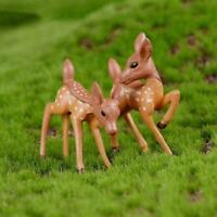 2Pcs/set Random Deer Animal   Fairy Garden Miniature New Decor K2H0