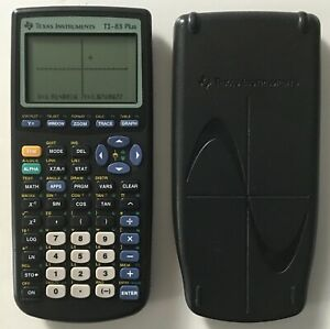 TI-83 Plus Texas Instruments Graphing Scientific Calculator with Slipcover Black