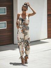 Womens Sleeveless Button Jumpsuit Wide Leg Pants Summer Casual Playsuit Romper