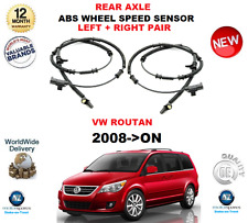 FOR VW ROUTAN REAR ABS SENSORS SET 2008->ON LEFT and RIGHT PAIR OE QUALITY