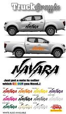 NISSAN NAVARA Pick up 4x4 VEHICLE GRAPHICS DECALS STICKERS x2