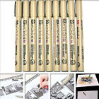 Sakura Pigma Micron Drawing Pen 005 01 02 03 04 05 08 1.0 Brush Art Supplies