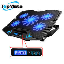 """TopMate 15.6"""" Gaming Laptop Cooling Pads, 5 Quite Fans and LCD Screen fit Office"""