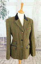 JOULES Green Wool tweed country hacking jacket blazer size 14