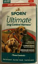 Sporn The Ultimate Dog Control Harness Large/Medium Red Adjustable NEW IN BOX