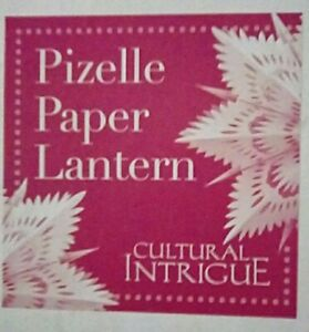 Luna Bazaar Pizzelle Paper Lantern (White, Paper Luminaire Lotus, IS202)