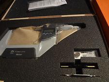 Mitutoyo 293-243 Coolant Proof LCD Micrometer, Ratchet Stop, 75-100mm Range, 0.0