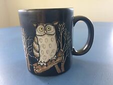 Vintage *OWL * Dark Brown Otagiri Ceramic Mug JAPAN