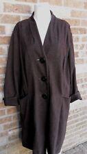 Women's J. Jill Long Flare Out Coat Brown W/Deep Hand Pockets Plus Sz 3X