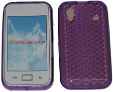 Gel Jelly Soft Case Protector Cover For Samsung GT S5830 Galaxy Ace Purple New