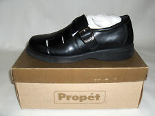 PROPET MARINE WALKING LEATHER SHOES 8.5 OR 14 SANDALS BLACK SAIL BOAT DIABETES